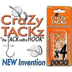 CraZy TACKz 48tacks (Round & Clear) (4pk=48 tacks)