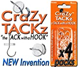 CraZy TACKz 48tacks (Round & Clear) (4pk=48 tacks)