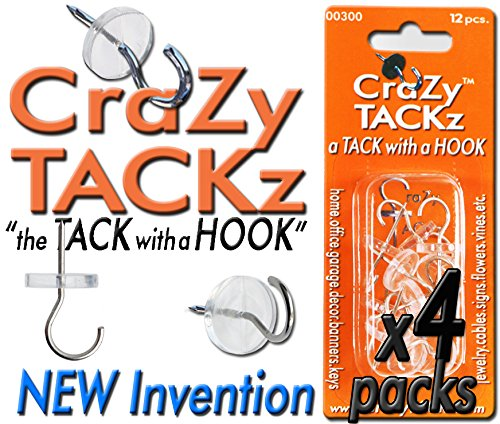- Crazy TACKz 48tacks (Round & Clear) (4pk=48 Tacks)
