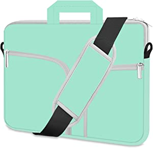 HESTECH Chromebook Case, 11.6-13 inch Neoprene Laptop Sleeve Case Bag Handle Compatible with Acer Chromebook r11/HP Stream/Samsung Chromebook/MacBook air 11/ Surface Pro3/Pro4,Mint Green