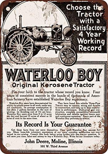 Reproducción de metal de cartel vintage del año 1918, diseño ...