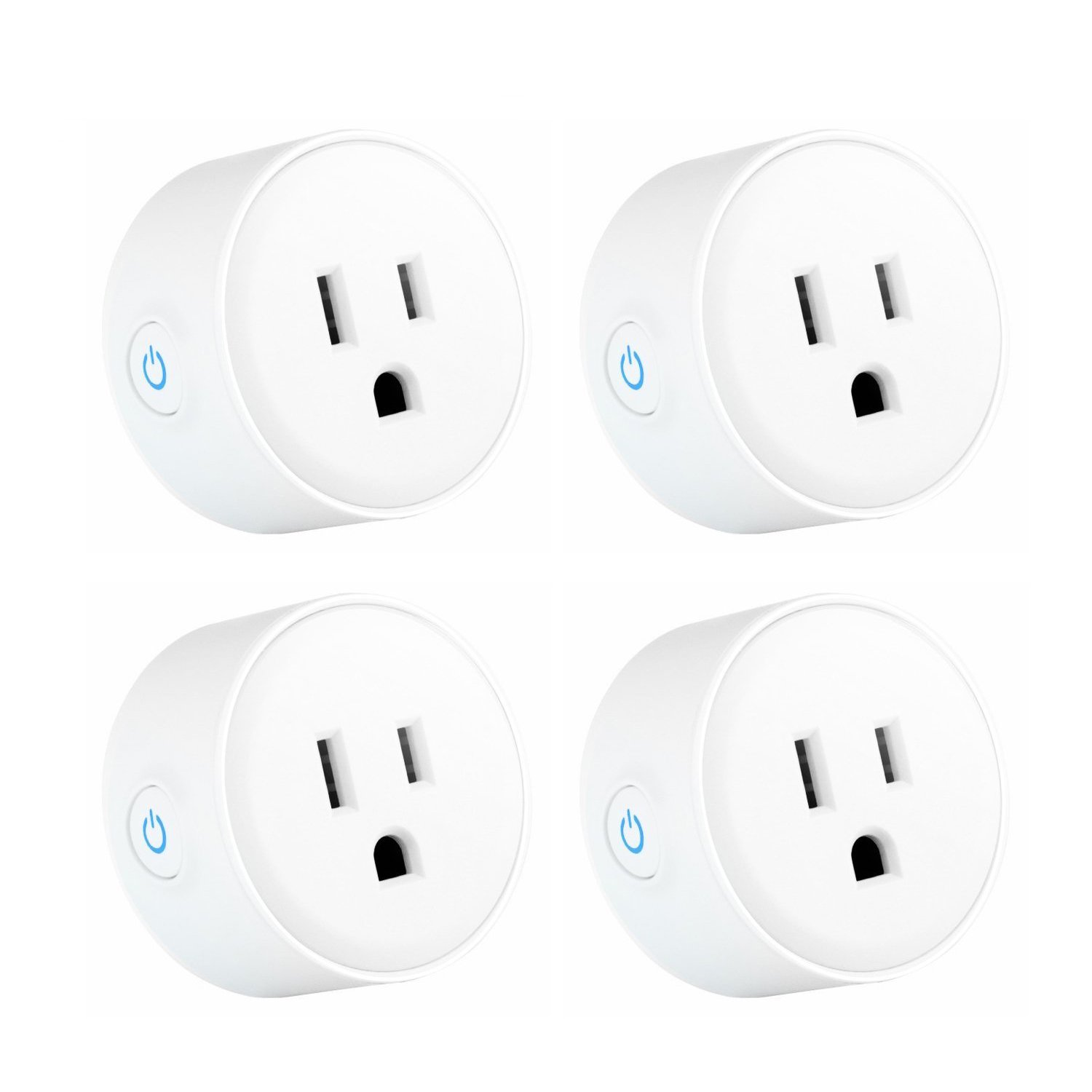 Wifi Smart Plug,Compatible with Alexa, iHoan Smart Socket Control From Anywhere Via Free APP for iOS/android with Timing Function, No Hub Required (grey)