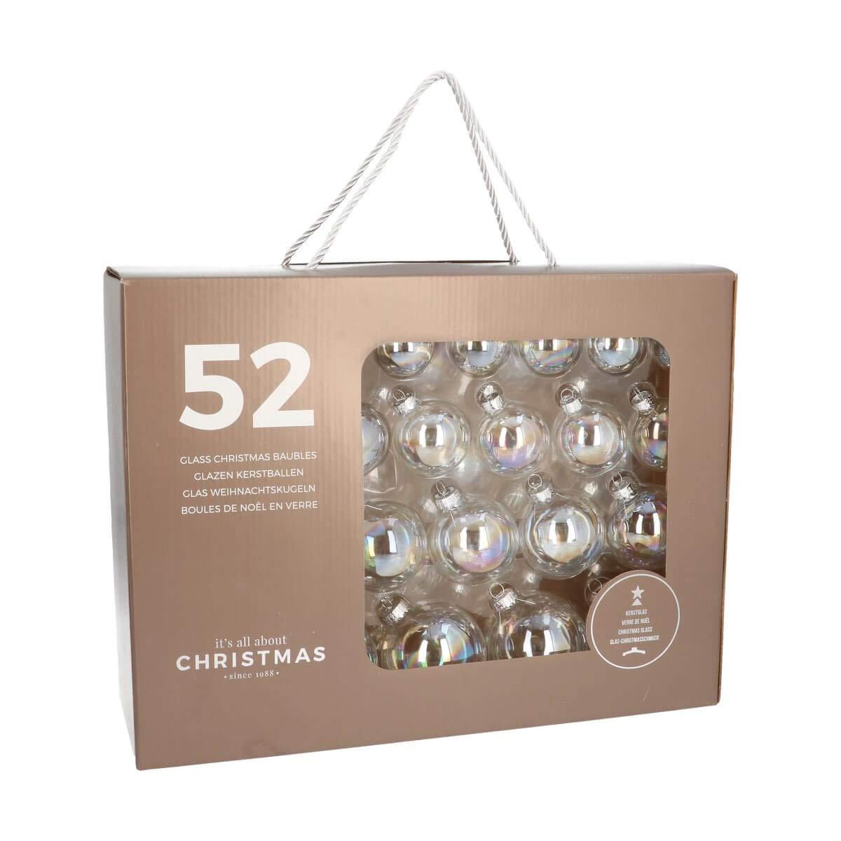 Aufbewahrungsbox Christbaumkugeln.Its All About Christmas 52 Christbaumkugeln Glas