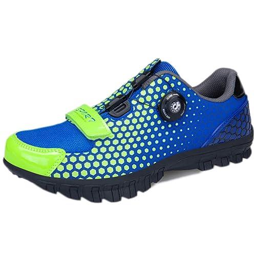 Zapatillas de Ciclismo para Hombre Ciclismo de montaña, Peso Ligero Hebilla de Alambre, Correa rápida, Zapatillas de Ciclismo para Exteriores: Amazon.es: ...