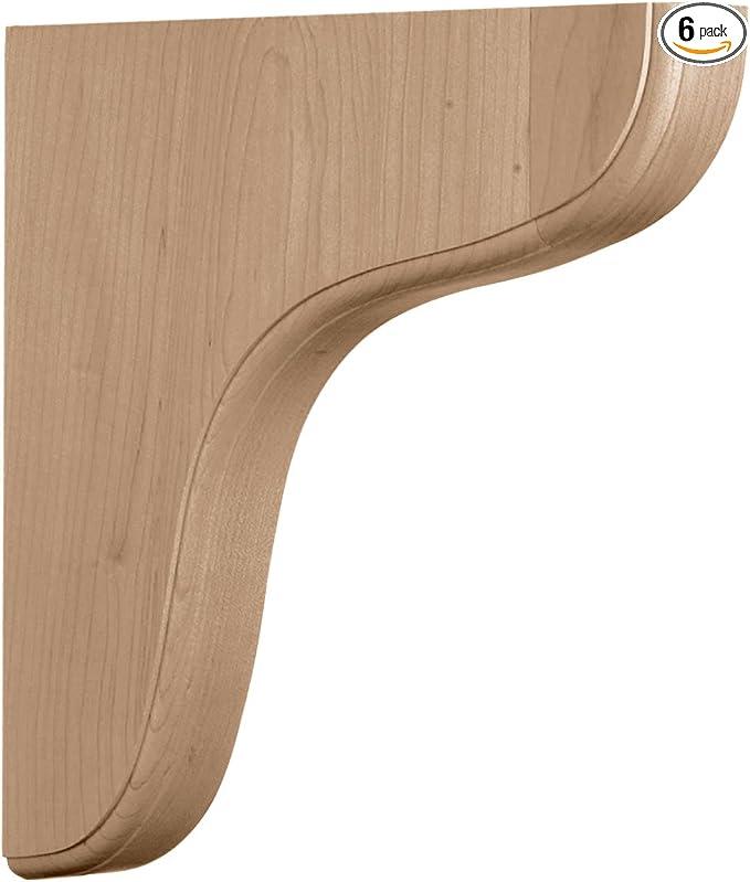 Alder Ekena Millwork BKTW01X08X12THAL-CASE-2 1 3//4W x 8 1//2D x 12H Large Thorton Wood Bracket x x Piece 2-Pack