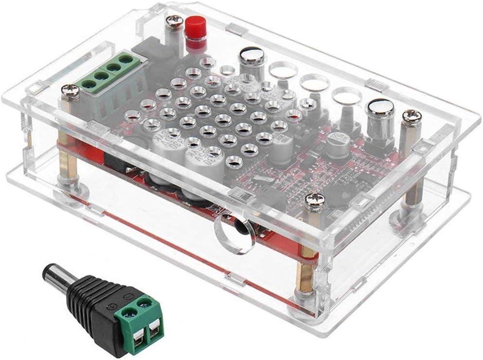 D Potencia de Bluetooth TDA7492 2x50W AUX conexión de Cable inalámbrico Dual Módulo de Clase Amplificador Digital HiFi Amplificador de Potencia Junta con Shell