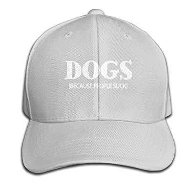 Amazoncom Sports Dogs Because People Suck Snapback 6311430021126