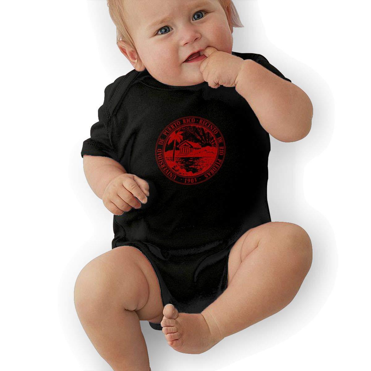 Puerto Rico Recinto Newborn Baby Short Sleeve Romper Infant Summer Clothing