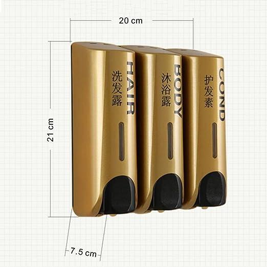LF Dispensadores de jabón y loción Dispensador de jabón / pared / distribuidor de jabón manual de tres cabezas / Hotel / jabón dispensador de casa / caja de ...