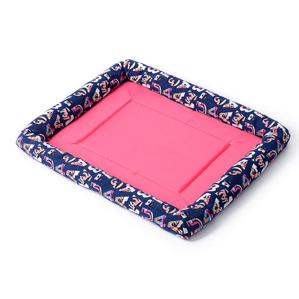 C Medium C Medium Kennel Pads Dog Beds Pet Cooling Mat, Summer Dog Cat Cooling Pad Cat Bed Pet Supplies Cover (color   C, Size   M)