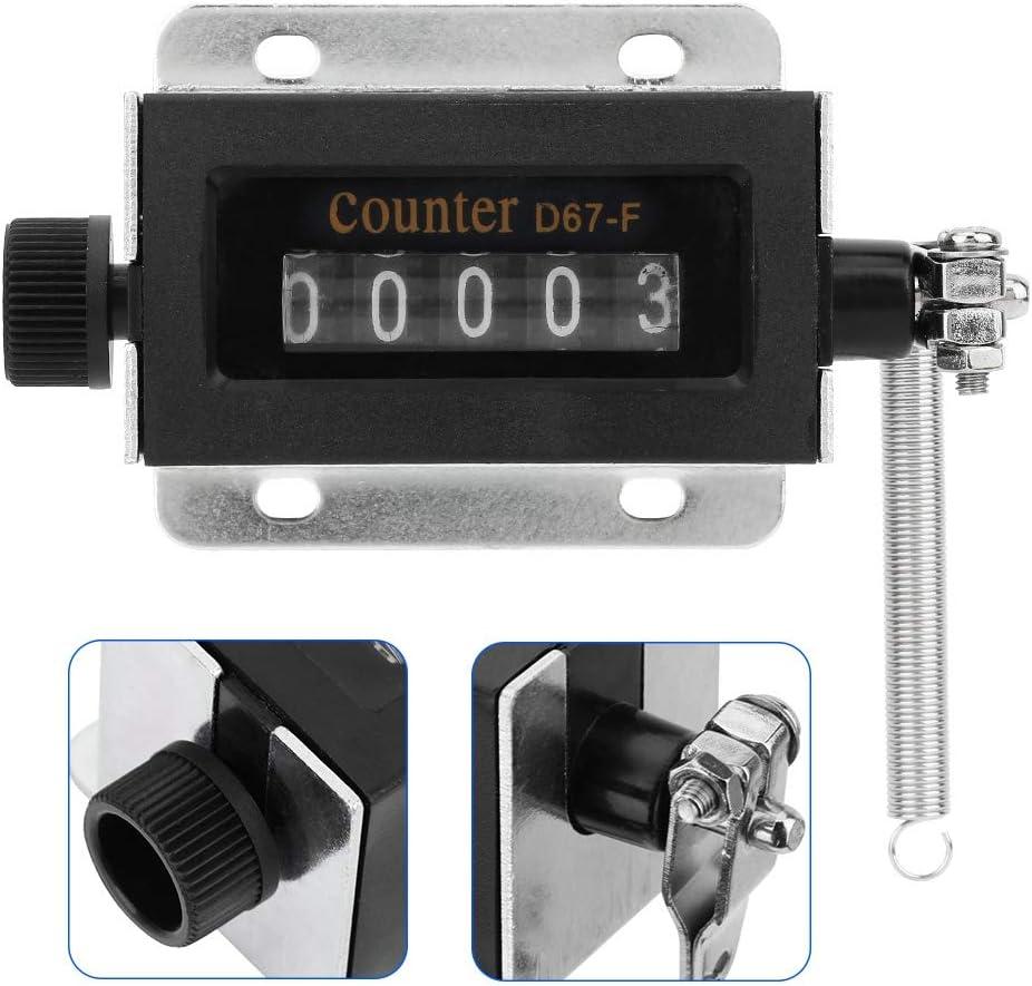 Digitale Num Manuale Conteggio Calcolatrice Meccanico Contatore Manuale a Corsa Manuale 5 cifre 0-99999 Contatore di Conteggio Manuale
