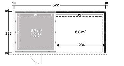 NOVO HABITAT Caseta de Jardin metálica NH4 con Apoyo | Blanco | (238 x 238) + (284 x 238): Amazon.es: Jardín