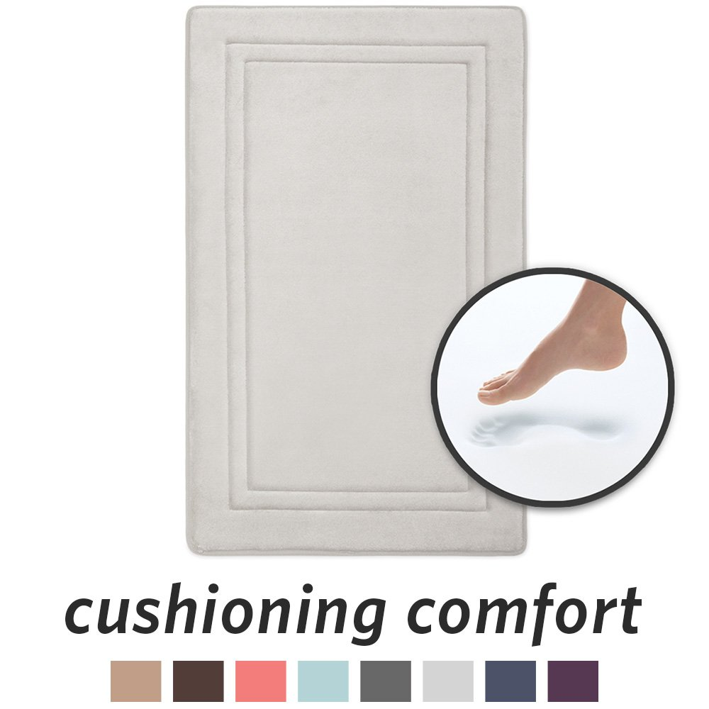 Microdry 10868 Quick Drying Memory Foam Bath Mat With