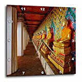 3dRose dpp_70818_1 Line of Buddhas, Wat Arun, Bangkok, Thailand-As36 Aje0100-Adam Jones-Wall Clock, 10 by 10-Inch For Sale