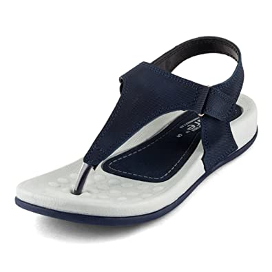 abdf4aceb02 WELCOME Women s Lightblue Leather Flip-Flops-7 UK India (40 EU)  (01 BluePF01 7)  Buy Online at Low Prices in India - Amazon.in