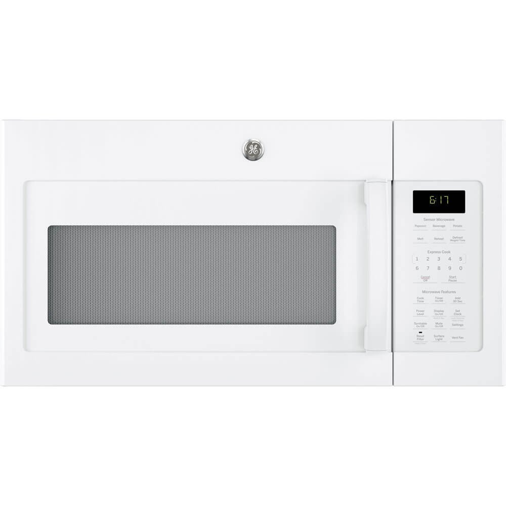 GE 1.7 Cu. Ft. White Over-The-Range Microwave Oven by GE