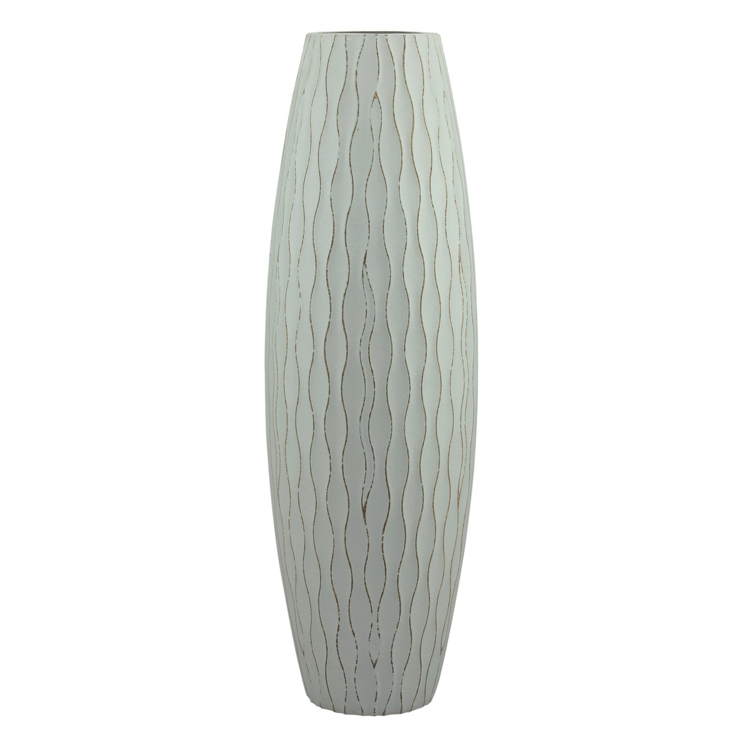 Stonebriar Beach Nostalgia Large Weathered Pale Ocean Wood Vase