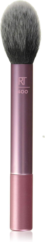 Real Techniques Blush Brush - Brochas de maquillaje faciales (Blush brush, Redondeado, Fino, Sintético, Negro, Rosa, 1 pieza, el embalaje o el manejar pueden variar