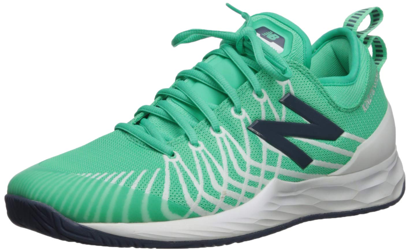 New Balance Men's LAV V1 Hard Court Tennis Shoe, Neon Emerald/White, 1.5 D US