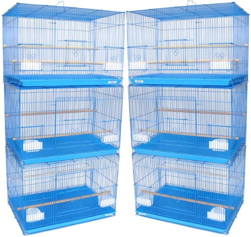 YML Small Breeding Cages, Lot of 6, Blue