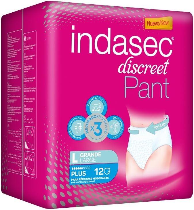 Indasec Discreet Pant Plus Grande - 12 unidades