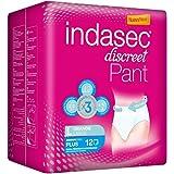Indasec - Ropa interior absorbente, talla grande, absorción plus, 12 pants