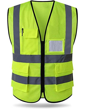 XXL//XXXL Fashion Graphic Gilet Alta visibilit/à Security Sicurezza Staff Catarifrangente Giubbotto ISO EN20471