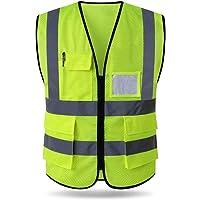 Hycoprot Chaleco de seguridad Reflectante Malla Alta visibilidad Ropa de trabajo Gerente ejecutivo Chaqueta de chaleco…