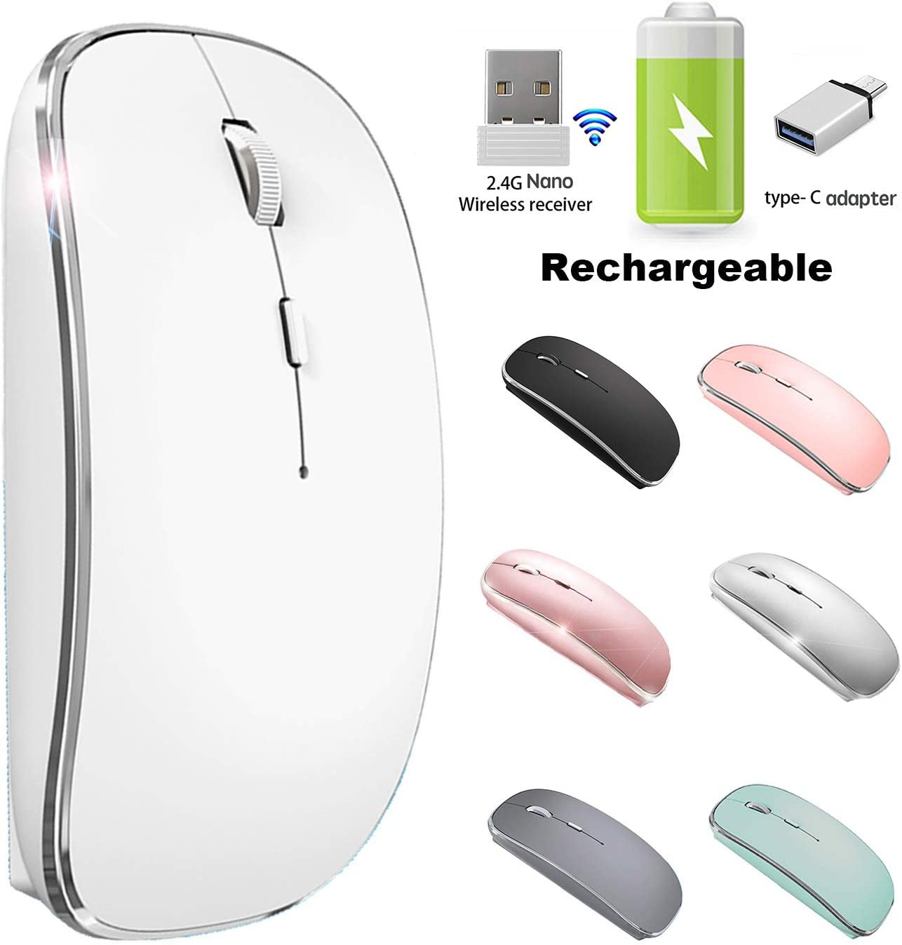 Wireless Mouse for Chromebook Wireless Mice for Microsoft Laptop