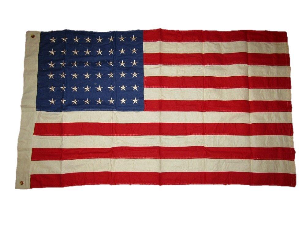 2019人気新作 3 x Star 5刺繍縫製48 Star USA American Tea Tea Stainヴィンテージコットンフラグ3 ' 3 x5 ' B01NCQ0C61, handmade mamiri:6cddd543 --- lamisionera.tv