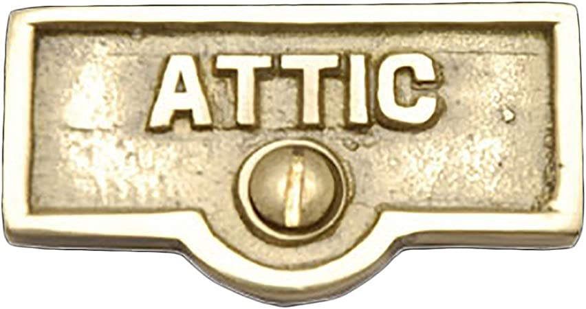 Switch Plate Tags Attic Name Signs Labels Lacquered Brass Renovator S Supply Outlet Plates Amazon Com