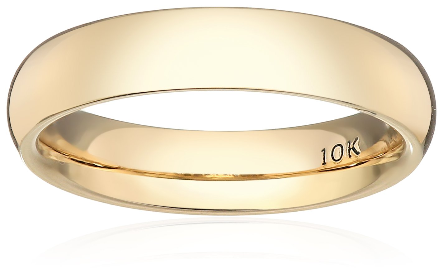 Standard Comfort-Fit 10K Yellow Gold Band, 4mm, Size 8