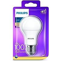 Philips Bombilla LED estándar E27, luz blanca cálida