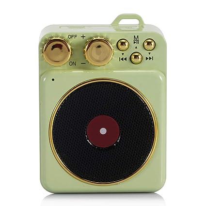 qiyanCreative Gift Pequeño Tocadiscos Retro Teléfono ...