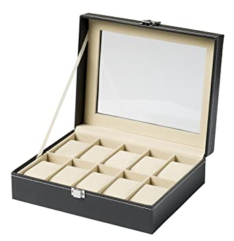DisQounts CAJA PARA RELOJES - Para 6, 10, 12 o 20 relojes - Caja