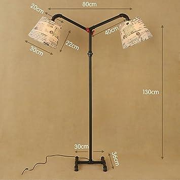 Stehlampe Stehlampe Loft Kreative Schmiedeeisen Stehleuchte Retro Industriellen  Stil Wohnzimmer Zimmer Schlafzimmer Rohr Stehlicht Größe: