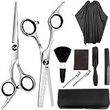 مجموعة معدات قص الشعر من كوكسير تضم 9 قطع مبتكرة من الستانلس ستيل من مقصات وشفرات وتحديد حواف