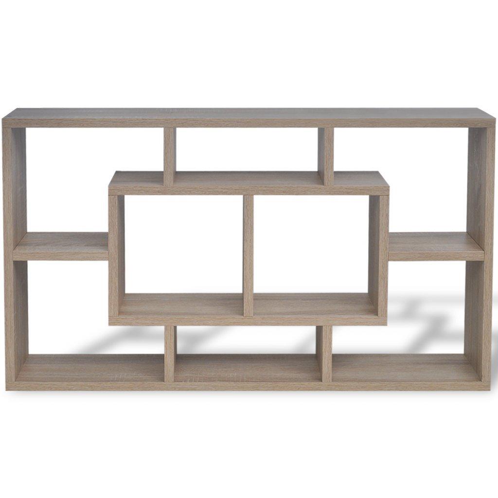 Festnight Estanter/ía Suspendida con 8 Compartimentos Color Roble 85 x 16 x 47,5 cm