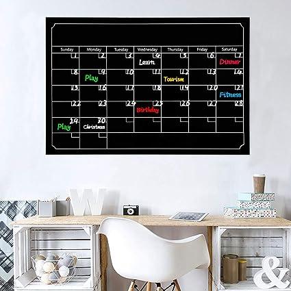 amazon com basde magnetic chalkboard style refrigerator calendar