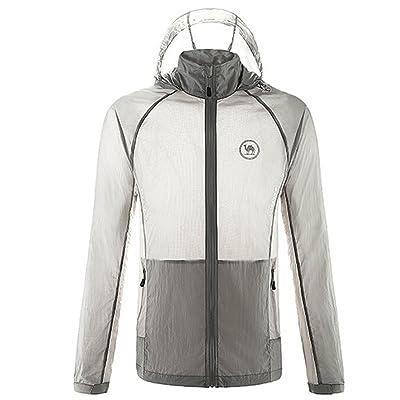Camel Men's Lightweight Running Jacket Skin Coat Color Grey Size M