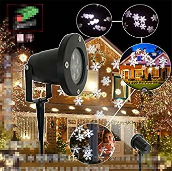 L&T STAR LED Outdoor Lawn Light Waterproof Projection Snowflake Light LOGO Pattern Lights Stage Lights Christmas Halloween