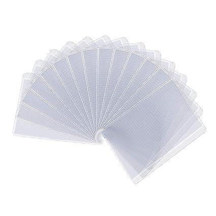 Protector de tarjeta, 50PCS Matt Transparente RFID Bloqueo ...
