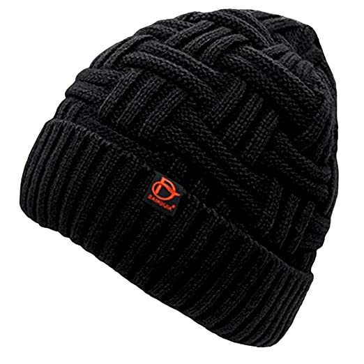8145e4c79bb Amazon.com  VEZAD Men Winter Warm Knitting Hats Wool Baggy Slouchy ...