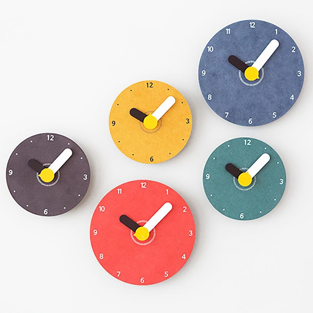 Amazon.com: LIU Creative Wall Clock Fashion Personality Lovely Cartoon Child Bedroom Clock, yellow, 17.717.7CM: Home & Kitchen