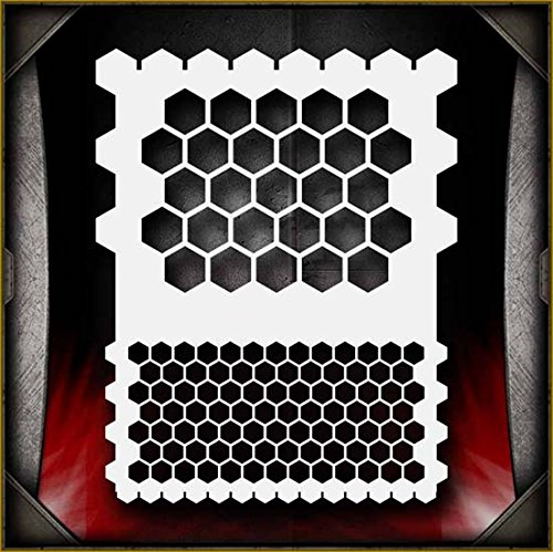 Honeycomb AirSick Airbrush Stencil Template