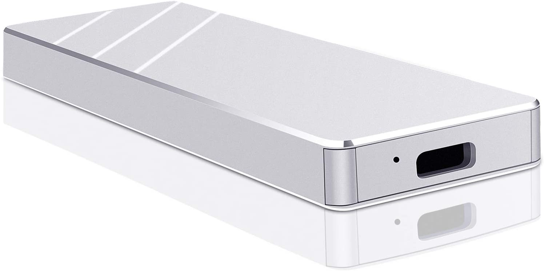Portable 1TB External Hard Drive - Portable Hard Drive External USB 3.1 Hard Drive for Mac PC Laptop Mac (Silver,1TB)