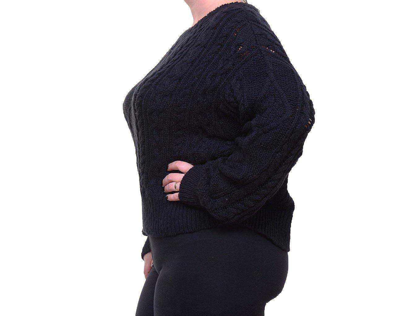RALPH LAUREN Denim /& Supply Womens Knit Ribbed Trim Pullover Sweater Black L