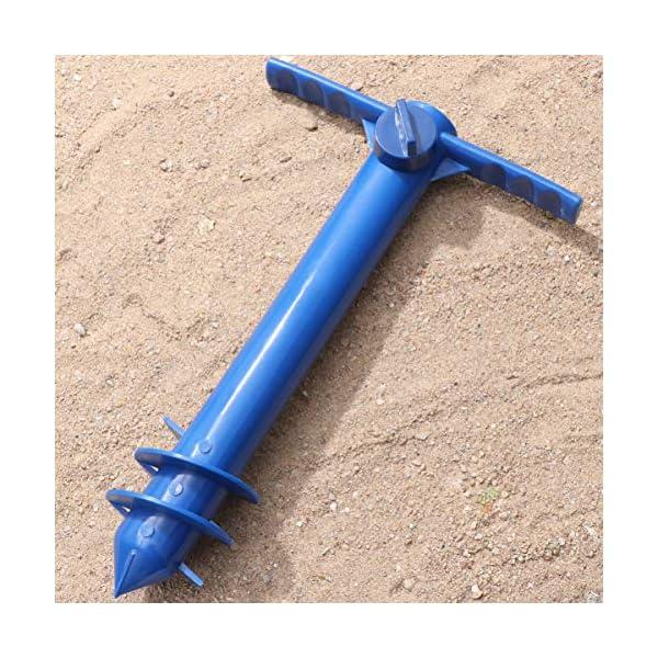 Yardwe Picchetto di Supporto per ombrellone Mare Spiaggia in plastica Porta ombrellone da Spiaggia per resistere a Forti… 4 spesavip