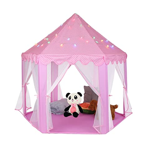 Amazon.com Estink Kids Play TentsPrincess Castle Play Tent Girls Playhouse Toy Game House with a String of 40 Star Lights for Kids Toddlers Gift Toys u0026 ...  sc 1 st  Amazon.com & Amazon.com: Estink Kids Play TentsPrincess Castle Play Tent Girls ...