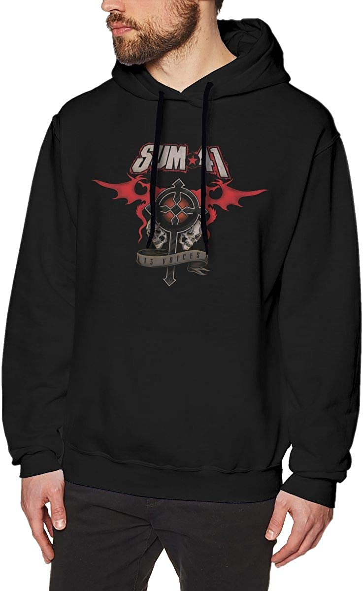 Sum 41 13 Voices Mens Personality Jacket Hoodie Sweatshirt Black